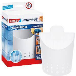 tesa® Powerstrips® Waterproof small basket, white TESA 59705-00000-00