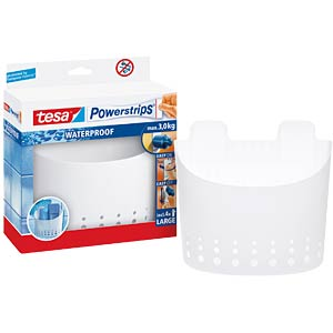 Tesa® Powerstrips® Waterproof large basket, white TESA 59706-00000-00