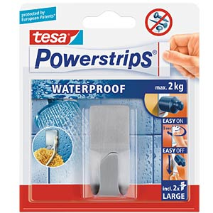 tesa Powerstrips® Waterpr. Haken Zoom, Metall TESA 59707-00000-00