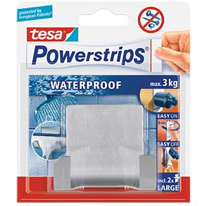 tesa Powerstrips® Waterproof Duohaken, Metall TESA 59710-00000-00