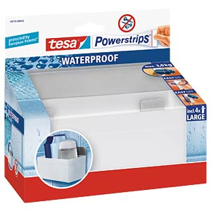 tesa Powerstrips® Waterproof Zoom rack, metal TESA 59711-00000-00