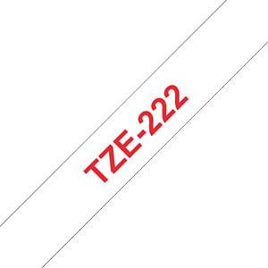 laminiertes Schriftband, rot auf weiß, 9 mm BROTHER TZE-222