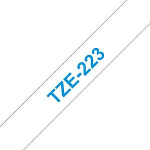 laminiertes Schriftband, blau auf weiß, 9 mm BROTHER TZE-223