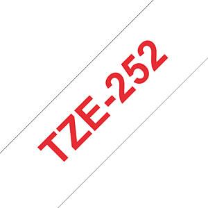 laminiertes Schriftband, rot auf weiß, 24 mm BROTHER TZE-252