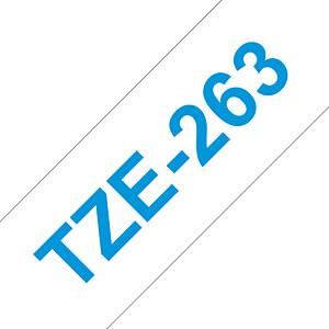 laminiertes Schriftband, blau auf weiß, 36 mm BROTHER TZE-263