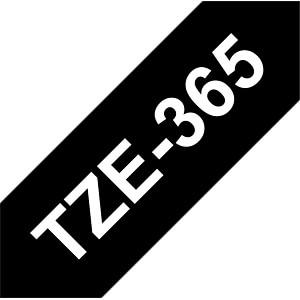 laminiertes Schriftband, weiß auf schwarz, 36mm BROTHER TZE365
