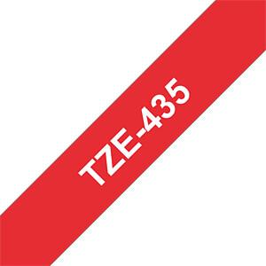 laminiertes Schriftband, weiß auf rot, 12 mm BROTHER TZE-435