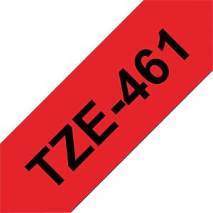 laminiertes Schriftband, schwarz auf rot, 36 mm BROTHER TZE-461