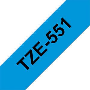 laminiertes Schriftband, schwarz auf blau, 24 mm BROTHER TZE-551