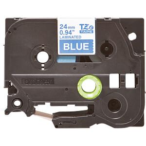 laminiertes Schriftband, weiß auf blau, 24 mm BROTHER TZE-555