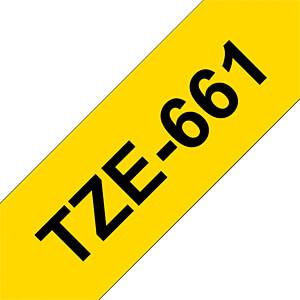 laminiertes Schriftband, schwarz auf gelb, 36 mm BROTHER TZE-661