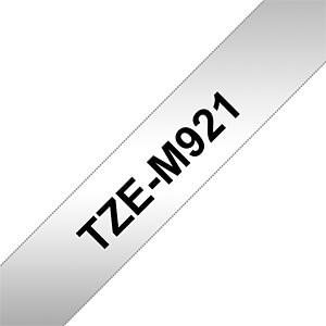 laminiertes Schriftband, schwarz auf silber, 9mm BROTHER TZEM921
