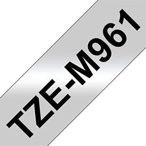 laminiertes Schriftband, schwarz auf silber, 36mm BROTHER TZEM961