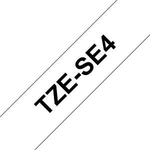 Siegelband (Sicherheit) schwarz auf weiß, 18mm BROTHER TZE-SE4