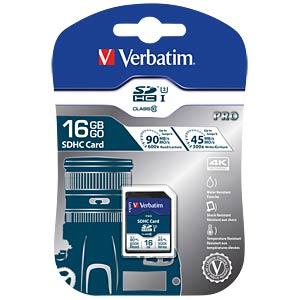 SDHC-Card 16GB, Verbatim Pro - U3 VERBATIM 47020