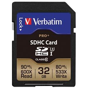 SDHC-Card 32GB, Verbatim Pro+ - U3 VERBATIM 49196