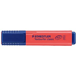 Highlighter, chisel tip, red STAEDTLER 364-2