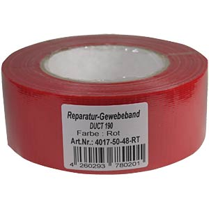Duct tape 48 mm x 50 m, colour: red FREI