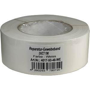 Duct tape 48 mm x 50 m, colour: white FREI