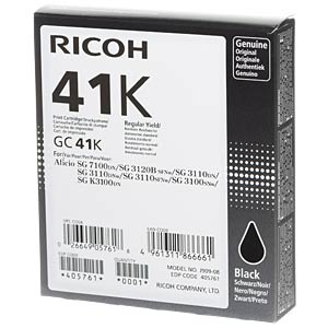 Gelpatrone - GC-41K - schwarz RICOH 405761