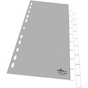 Kunststoffregister A4 Blanko (10-teilig) DURABLE 6441/10