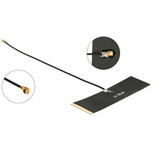 Antenne TETRA 430 - 470 MHz 0 dBi 1.13 15 cm Klebemontage schwar DELOCK 12539