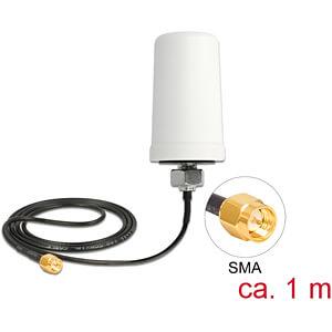 Antenne LTE SMA Stecker 1,7 - 2,0 dBi ULA100 1 m omnidirektional DELOCK 12545
