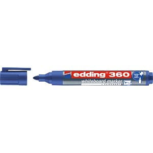 Whiteboard Marker, 1,5 - 3,0 mm, blau EDDING 4-360003