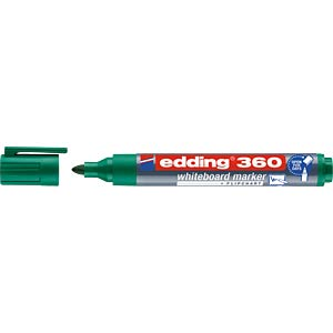 Whiteboard Marker, 1,5 - 3,0 mm, grün EDDING 4-360004