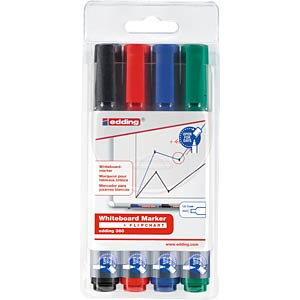 Whiteboard Marker / 4-farbig / 1,5 - 3,0 mm EDDING 4-360-4
