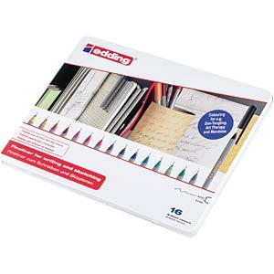 Fineliner Set Blechbox, 0,30 mm, 16-farbig EDDING 4-55-16