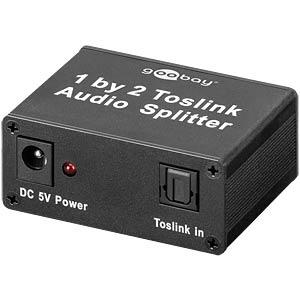 Toslink 2-way audio splitter GOOBAY 67794