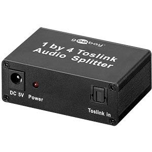 Toslink 4-way audio splitter GOOBAY 67795