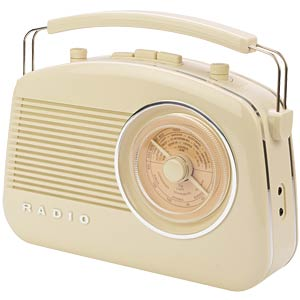 Retro radio with Bluetooth® technology, beige KÖNIG HAV-TR800BE