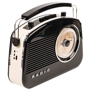 Retro radio with Bluetooth® technology, black KÖNIG HAV-TR800BL