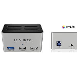 4 port SD card reader with a 3-port USB hub ICYBOX IB-880
