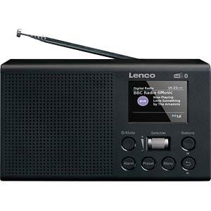 LENCO PDR-031BK - Tragbares DAB+ Radio mit Akku und Bluetooth