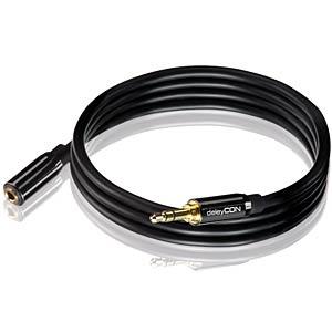 Audio Kabel, 3,5 mm Klinkenstecker auf Kupplung, 0,5 m DELEYCON MK-MK145