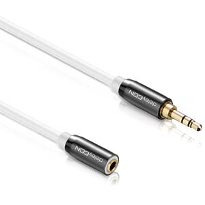 3,5 mm, Klinke, Stecker / Kupplung 0,50 m DELEYCON MK-MK347