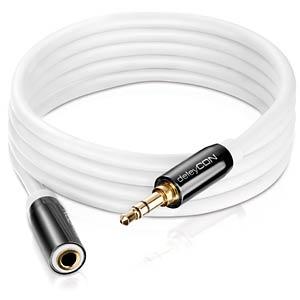 3.5 mm, jack, plug/socket 0.50 m DELEYCON MK-MK347