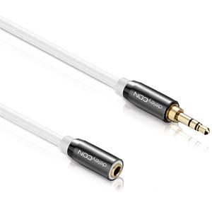 Audio Kabel, 3,5 mm Klinkenstecker auf Kupplung, 1 m DELEYCON MK-MK348