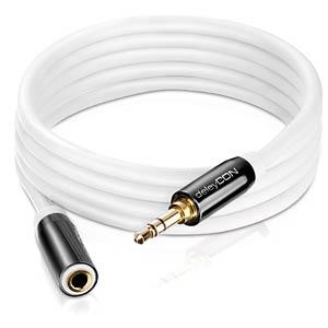 Audio Kabel, 3,5 mm Klinkenstecker auf Kupplung, 1,5 m DELEYCON MK-MK349