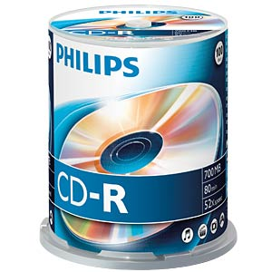 Philips CD-R 700, 52x Speed, Spindel 100 PHILIPS CR7D5NB00/00