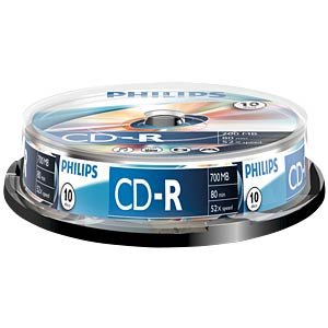 Philips CD-R 700, 52x speed, 10 spindle PHILIPS CR7D5NB10/00