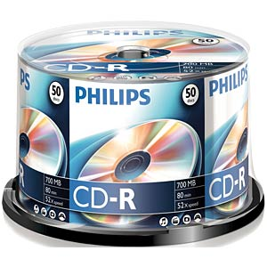 Philips CD-R 700, 52x Speed, Spindel 50 PHILIPS CR7D5NB50/00