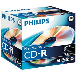 Philips CD-R 800, Multi speed, 10 Jewelcase PHILIPS CR8D8NJ10/00