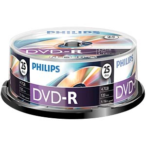Philips DVD-R 4.7 GB, 16x Speed, Spindle 25 PHILIPS DM4S6B25F/00