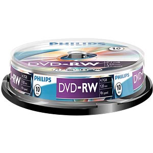 Philips DVD-RW 4.7 GB, 4x Speed, Spindle 10 PHILIPS DN4S4B10F/00