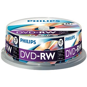 Philips DVD-RW 4.7 GB 4x speed, 25 spindle PHILIPS DN4S4B25F/00