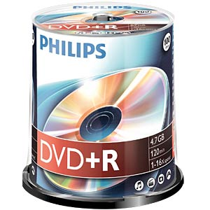 Philips DVD+R 4.7 GB, 16x speed, 100 spindle PHILIPS DR4S6B00F/00